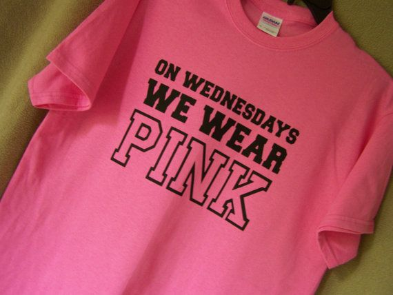 Mean Girls On WEDNESDAYS We WEAR PINK Mean by TheStickyWitch, $14.00