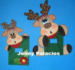 Navidad pascua del conejo y mas on pinterest natal for Manualidades renos navidenos