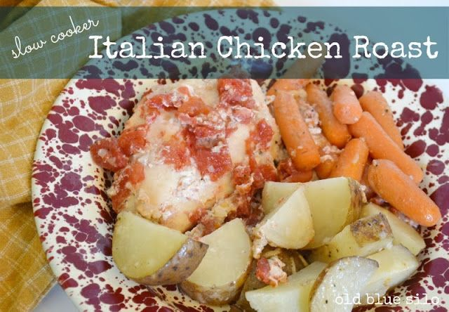 slow cooker: italian chicken roast | Slow Cooker Recipes | Pinterest