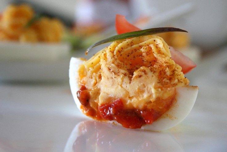 red hot deviled eggs