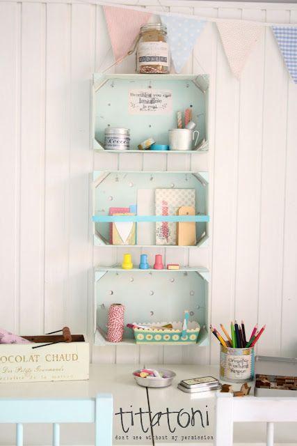 Ideas para reciclar cajones de madera taringa for Caja almacenaje infantil
