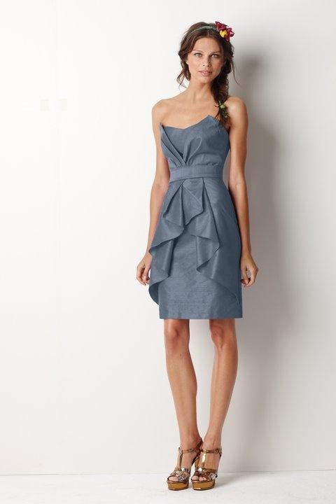 Chiffon Dresses: Bridesmaid Dresses Slate Blue