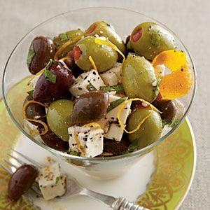 Citrus-Marinated Feta and Olives | Recipe