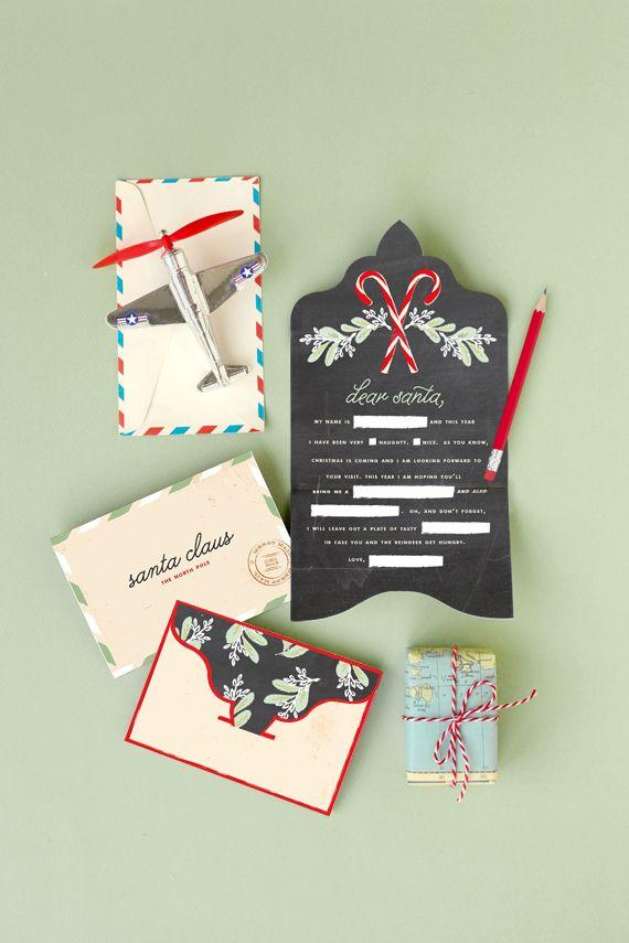 Free Printable: letter to Santa