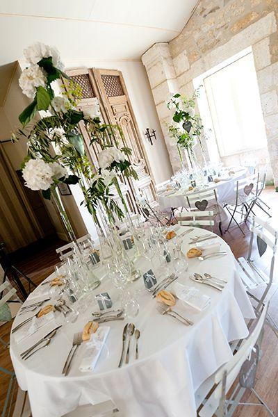 Décoration florale : centre de table  Fleurs coupées  Pinterest