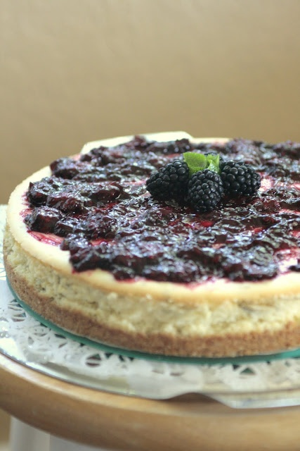 Lime Cheesecake with Blackberry Sauce | eat me | Pinterest