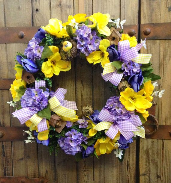 Grapevine bird spring/summer wreath by WilliamsFloral on Etsy, $95.00