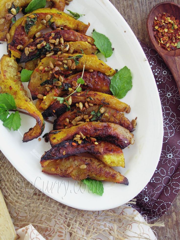 Roasted Acorn Squash With Mint, Sumac And Sunflower Seeds Recipes ...