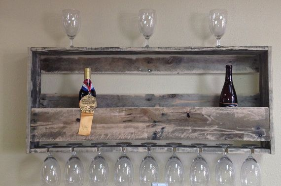 Rustic Wine Rack by CroyWoodWorx on Etsy, $80.00