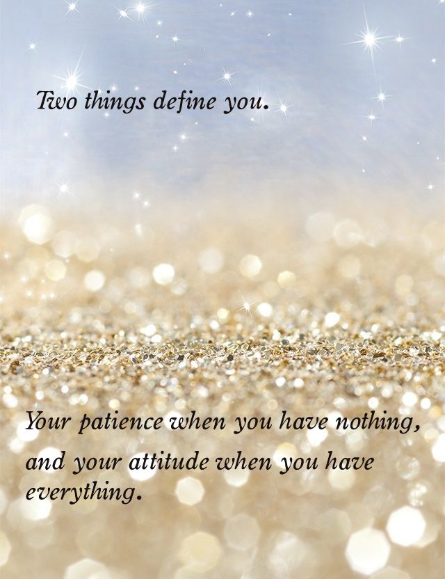 Two things define you. Learn and do the best of you.