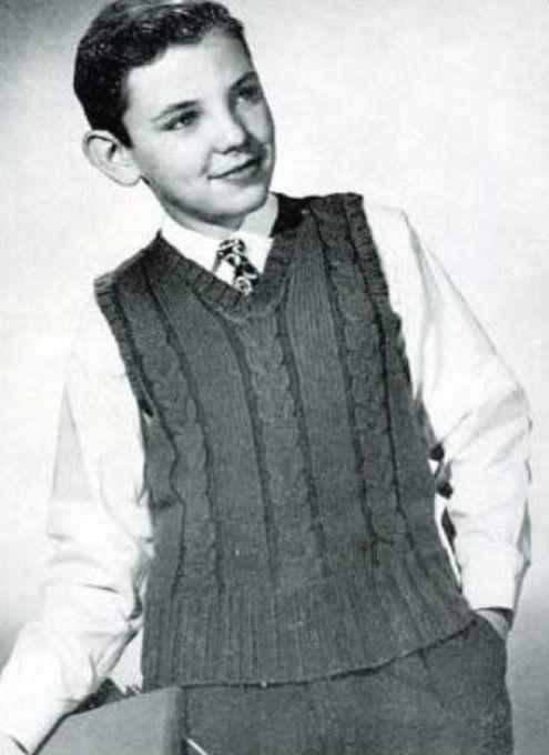 Knitting Pattern Sleeveless Pullover : Boys sleeveless sweater knitting pattern #0378