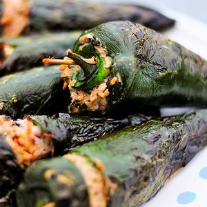 Stuffed Poblanos with Black Beans and Cheese - We love a few of these ...