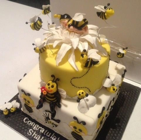 bumble bee baby shower cake villa chateau general cakes pinterest