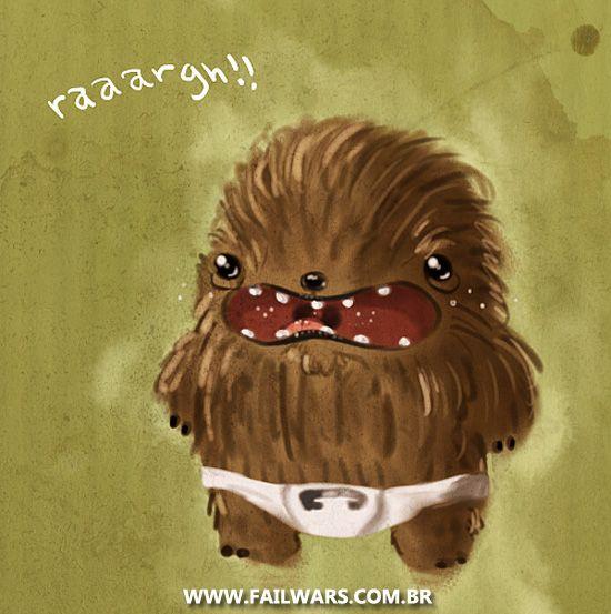Baby Chewbacca  Raaargh    -   Baby Chewbacca Art