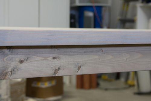 whitewash over gray stain