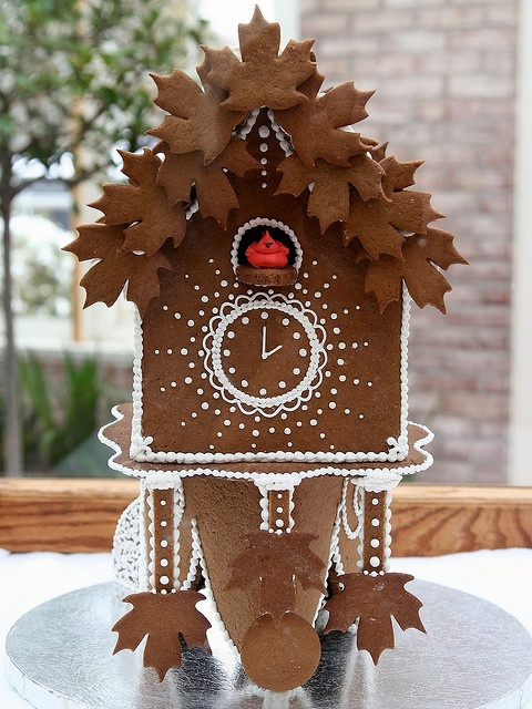 gingerbread cuckoo clock gingerbread house #gingerbread #gingerbreadhouse