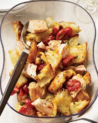 Pan Roasted Salmon and Bread Salad