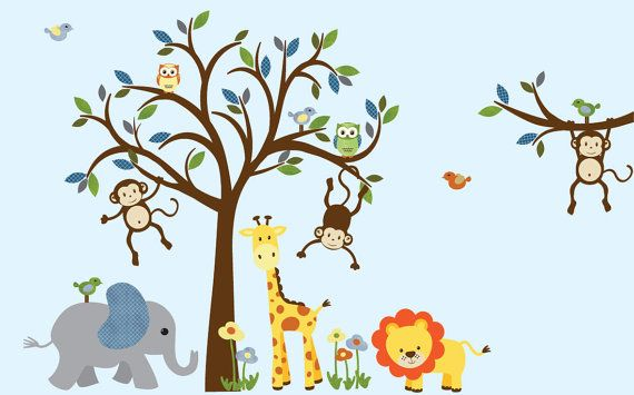 Jungle Animal Wall Stickers Home Design Part 37