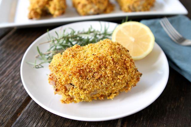 """Daily Dinner Idea: Rosemary Lemon Oven """"Fried"""" Chicken"""
