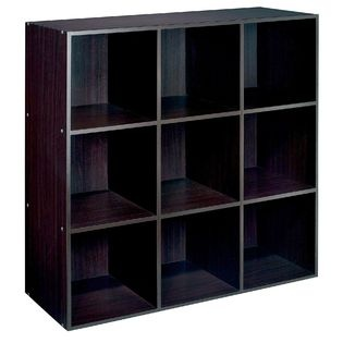 Essential Home 9 Cube Storage Unit Espresso