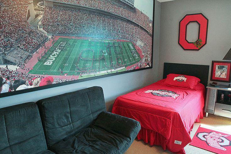 Sports bedroom beautiful home kids room pinterest for Design room sport