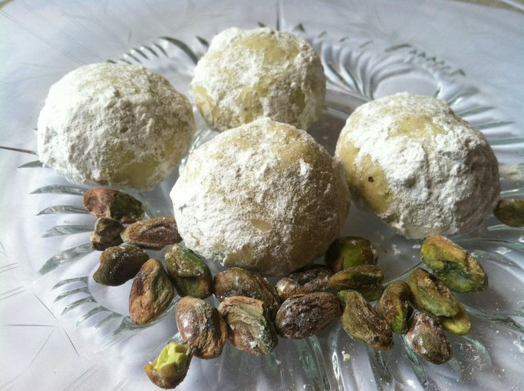 ... snowballs/#. A pistachio variation on the Mexican Wedding Cookie or