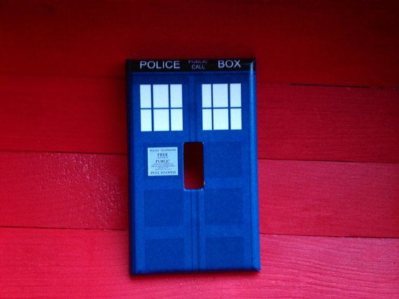 Light switch cover light switch dr who tardis police for Tardis light switch cover