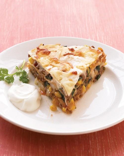 Tortilla Pie - Martha Stewart Recipes Sub corn tortillas, 1 pkg frozen ...