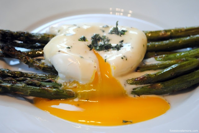 ... it looks! Roasted Asparagus with Poached Egg and Lemon-Mustard Sauce