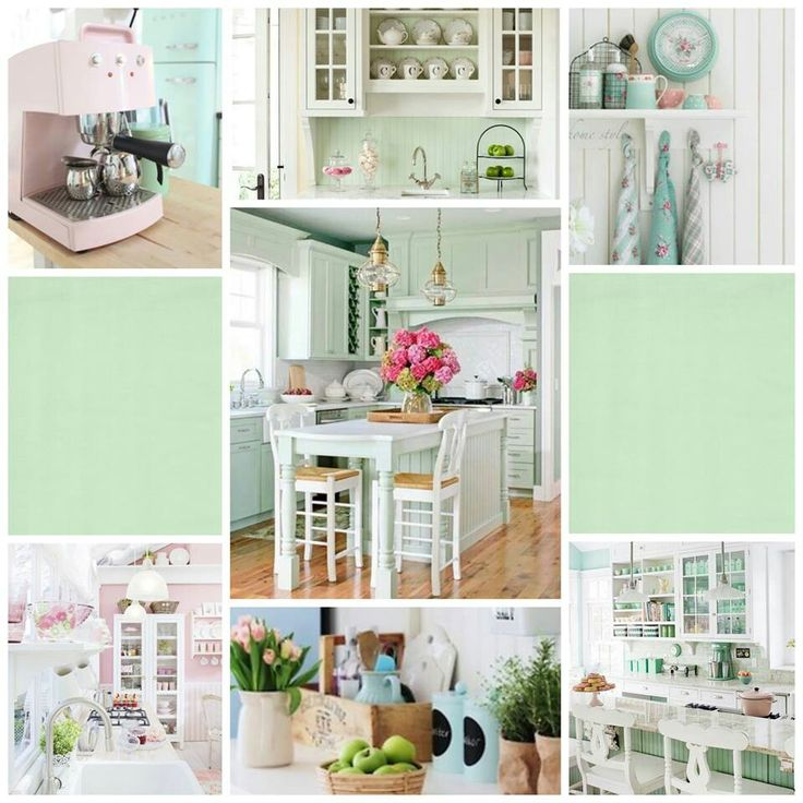 Beautiful pastel kitchen ???  Kitchen design  Pinterest