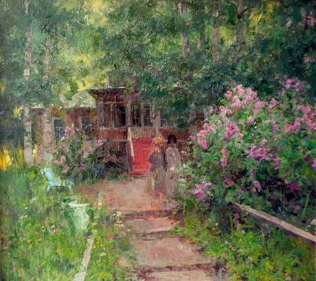 Old Manor by Alexander Kosnichev | Russian Painters | Pinterest: pinterest.com/pin/337066353333164697