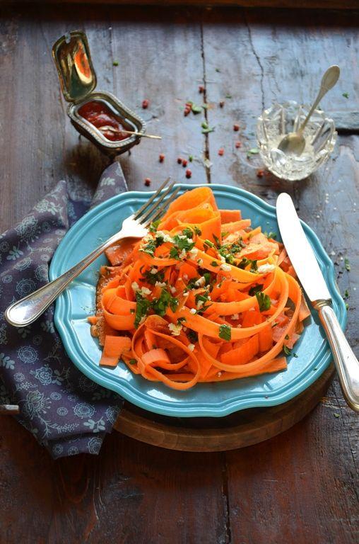 Ribbon Carrot Salad with Feta & Harissa | A.D.I.D.A.F | Pinterest