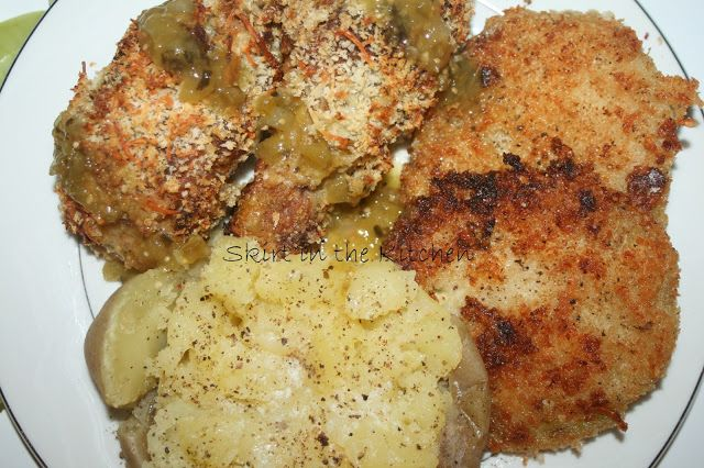 Fried-Baked Chicken Parmesan Verde with Fried Green Tomatoes and ...