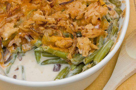 Recipe: Green Bean Casserole with Mushroom Béchamel & Crispy Onions ...