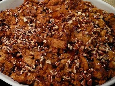 Sweet Potato & Maple Pecan bread pudding from bentobloggy.com
