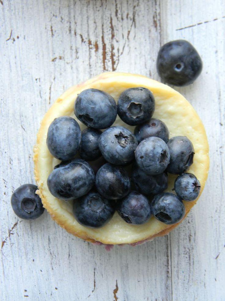 Blueberry Lemon Cheesecake - makes 16 individual cheesecakes