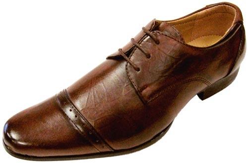 Men's Leonard Brown Vegan Dress Shoes - $58.00