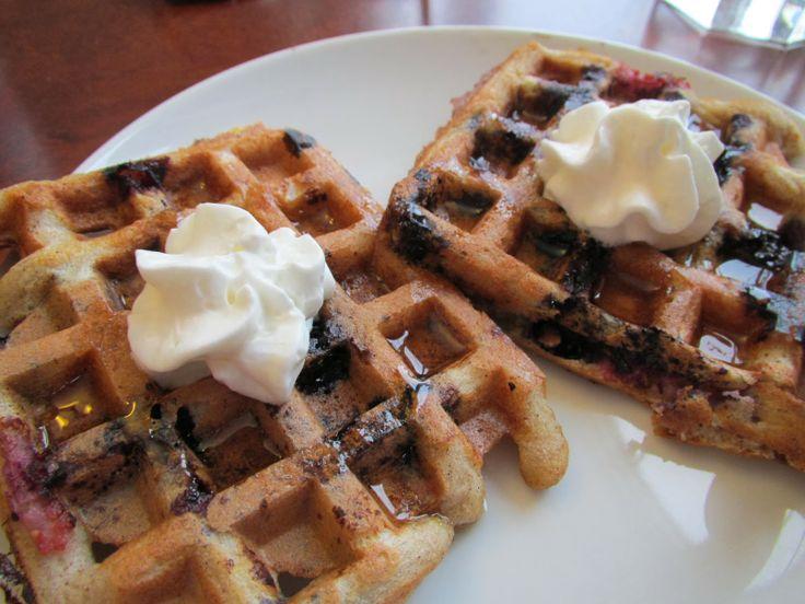 Successfully Gluten Free! : Lemon-Blueberry Sourdough Waffles!