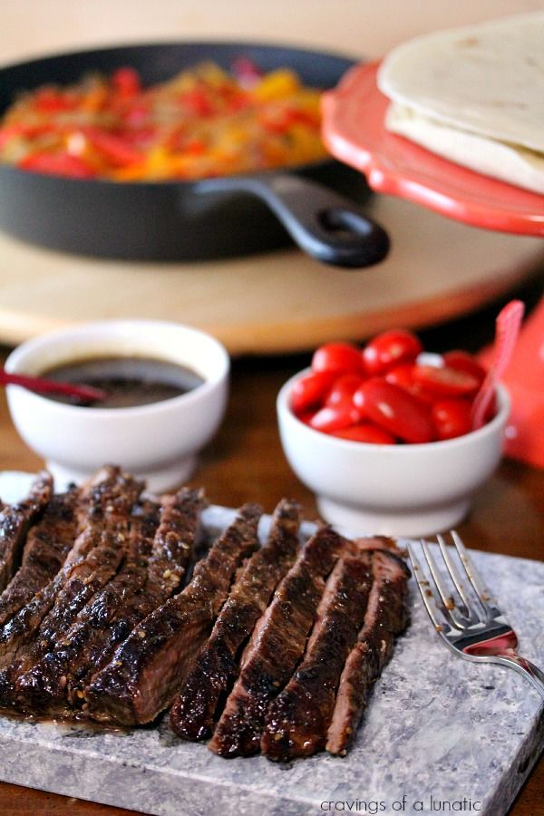Steak Fajitas with Drunken Peppers | Cravings of a Lunatic | Simple ...