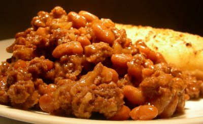 Down-Home Baked Beans with Ground Beef | Side Dishes | Pinterest