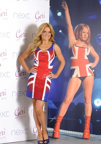 Geri Halliwell recreates Union Jack dress for Next