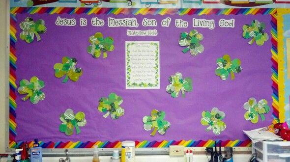 March Shamrock Bulletin Board | Bulletin Boards for Preschool | Pinte ...