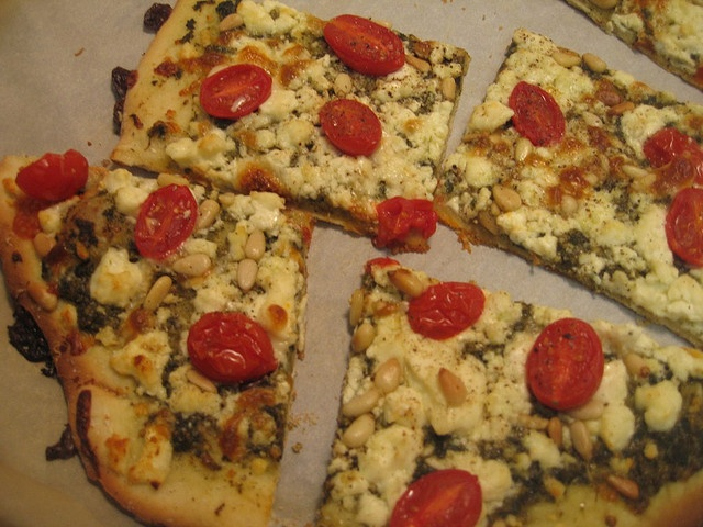Pesto Pizza with Feta and Tomatoes | Pizza! Pizza! | Pinterest
