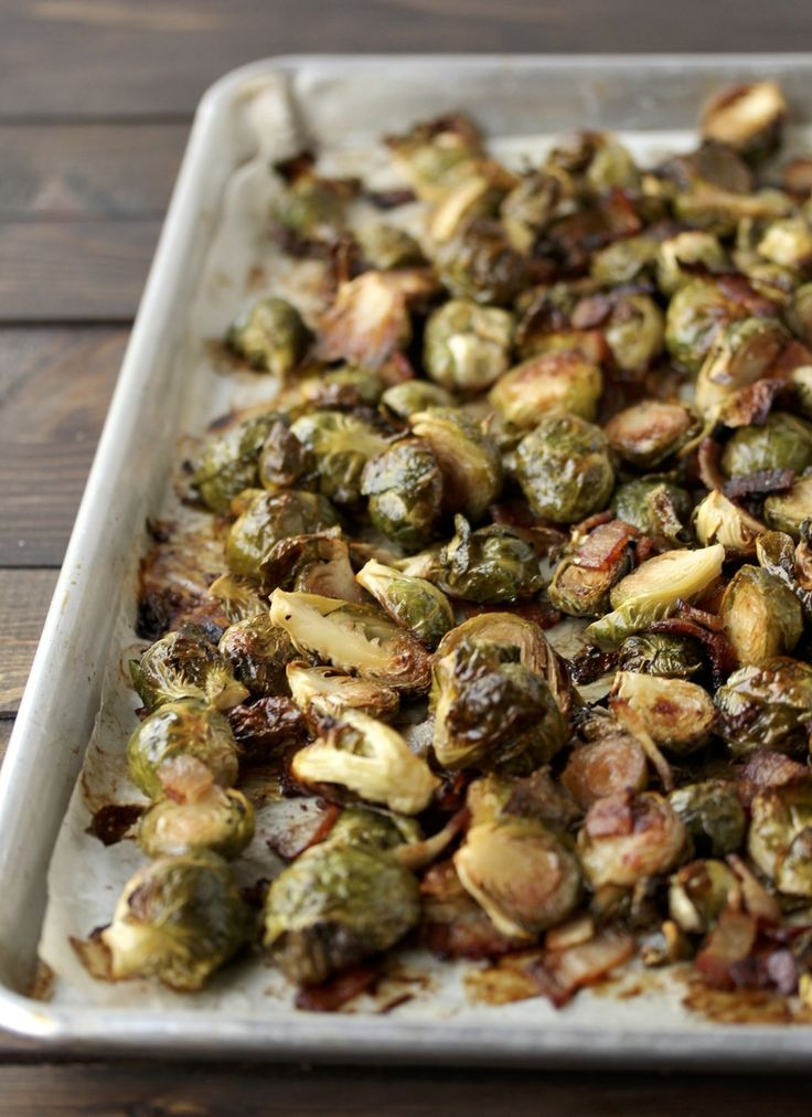 Paleo Roasted Brussel Sprouts & Bacon (this is my new favorite ...