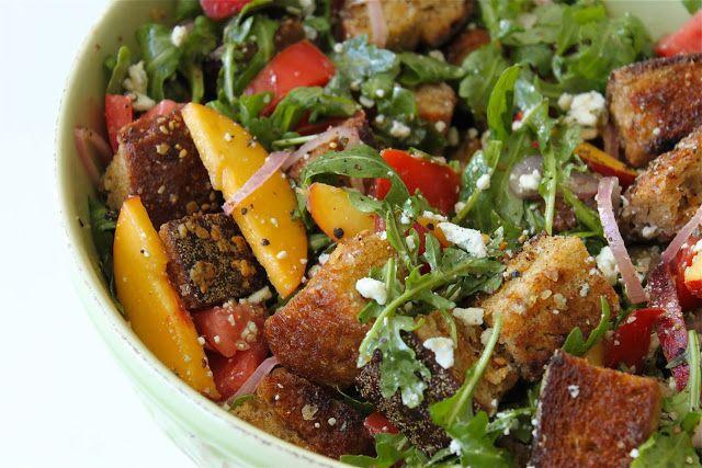 Peach Panzanella | Salad Central | Pinterest