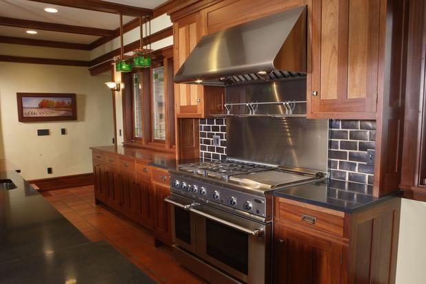 Prairie style kitchen cameron van dyke frank lloyd for Prairie style kitchen