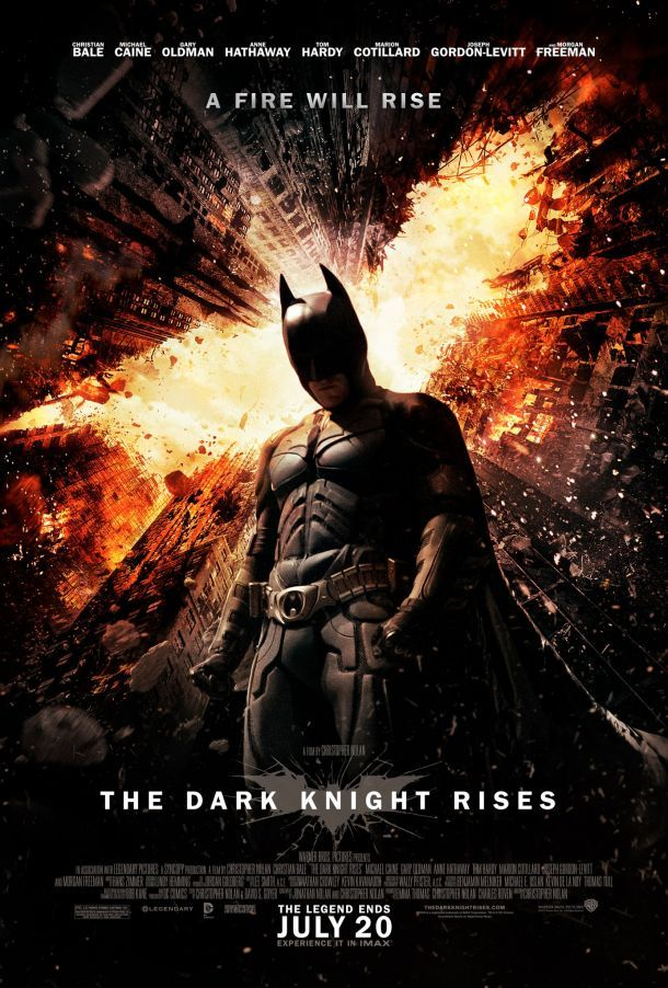 The Dark Knight Rises one-sheet poster