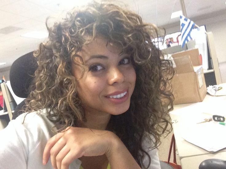 Highlights for dark curly hair