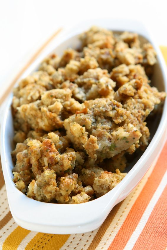 My favorite stuffing - with apples, bacon and caramelized onions ...