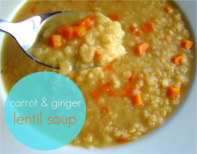 Carrot & ginger lentil soup | Food: Soup, Stew and Chili | Pinterest